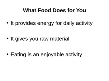 Six Nutrients Presentation