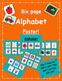 Six Page Alphabet Poster!