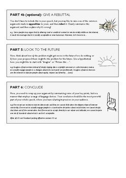 Six Part Persuasive Writing Structure