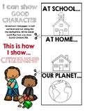 Six Pillars of Character Citizenship Flapbook Activity
