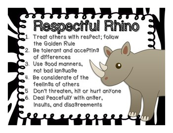 Six Pillars of Character Education- Animal Themed Posters and Bunting Banner