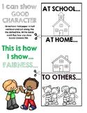 Six Pillars of Character Fairness Flapbook Activity