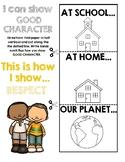 Six Pillars of Character Respect Flapbook Activity
