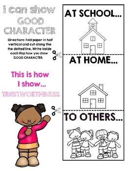 Six Pillars of Character TRUSTWORTHINESS Flapbook Activity