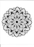 Six Point Star Mandala Coloring Page