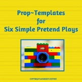 Six Pretend Play Prop Templates