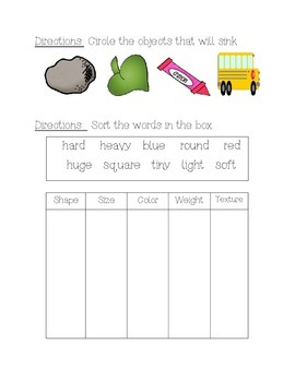 Science Units for First and Second Graders