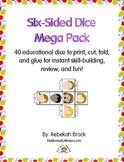 Six-Sided Dice Mega Pack: 40 Dice to Print, Cut, Fold, and Glue!
