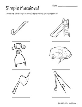 six simple machines 3 printable worksheets by tim van de vall tpt. Black Bedroom Furniture Sets. Home Design Ideas