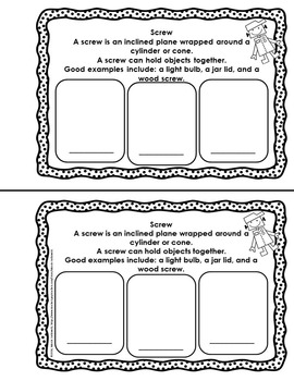 Simple Machines Mini Book Printable, Vocabulary Cards, & Game SOL 3.2