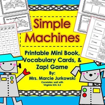 Simple Machines Mini Book Printable, Vocabulary Cards, & G