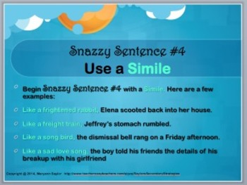 sentence variety examples