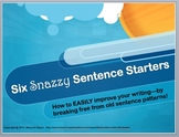 Sentence Beginnings and Sentence Variety for Better Writing