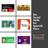 Six Spanish Class Social Skills Videos for Proactive Class