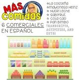Six Spanish Commercials with activities: Comidas / Foods