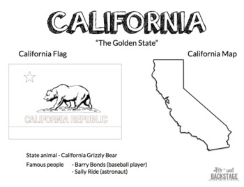 Six State Coloring Worksheets