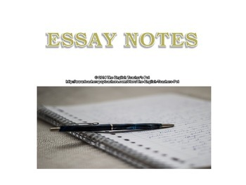 Six Step Writing Process, Five Paragraph Essay Format and