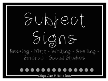 Six Subject Signs