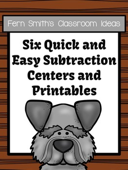 Subtraction Quick and Easy to Prep Math Center Game Bundle