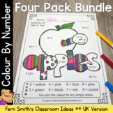 Colour By Numbers Apples Addition Subtraction Multiplication Division UK Version