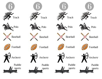Six Syllable Types Bookmarks - Animals and Sports themes