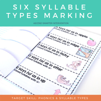 Six Syllable Types Orton Gillingham Practice
