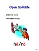 Six Syllable Types Posters - Orton-Gillingham