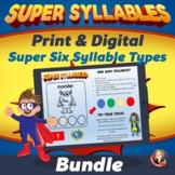 Six Syllable Types Practice Bundle
