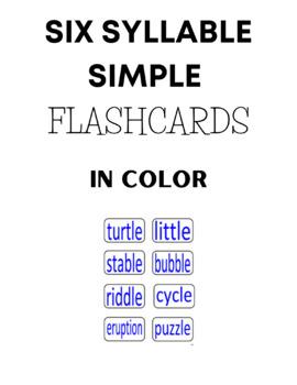 Six Syllables Flashcards