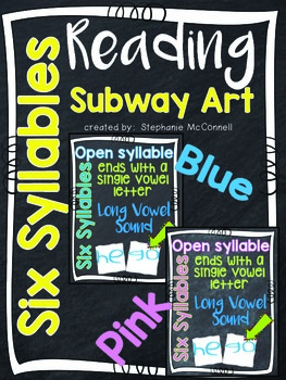 Six Syllables Subway Art Theme