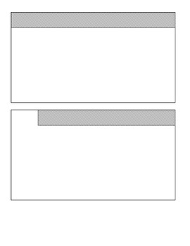 Six Tabbed Foldable Book Template