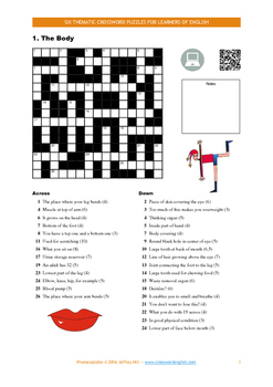 Six Thematic Crossword Puzzles for Learners of English