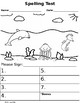 Six Themed Animal Spelling Tests