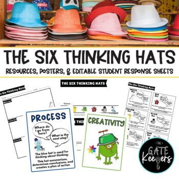 Six Thinking Hats Posters Resources Activity Worksheet