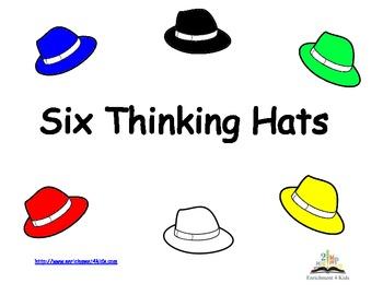 Six Thinking Hats Signs Edward Debono