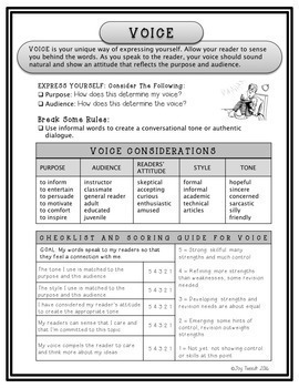 6 + 1 Traits of Writing Student Handbooklet – Quick Study With Ancillaries
