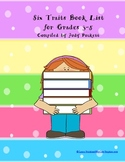 Six Traits Book List Grades 3-5