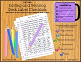 Six Traits Editing and Revising Desk Label Checklists