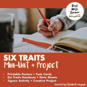 Six Traits Of Writing | Jigsaw, Stations, Posters, and Project  | Grades 6-10