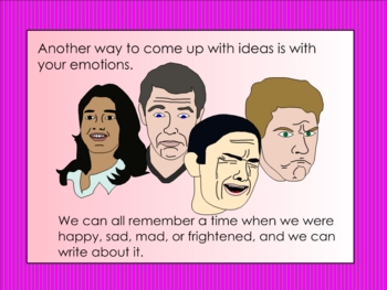 Six Traits Smartboard Lesson Focusing on Ideas
