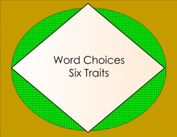 Six Traits Word Choice Smartboard