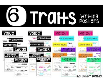 Six Traits Writing Posters