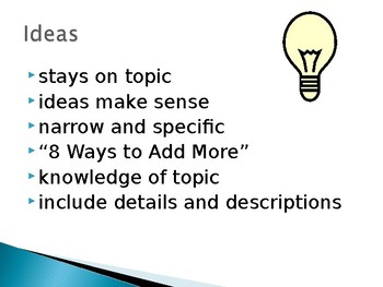 Six Traits of Good Writing Powerpoint