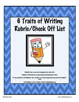 Six Traits of Writing Assessment Rubric and Check Off List