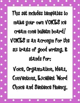 Six Traits of Writing Bulletin Board Materials
