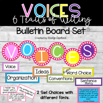 Six Traits of Writing Bulletin Board Set - VOICES