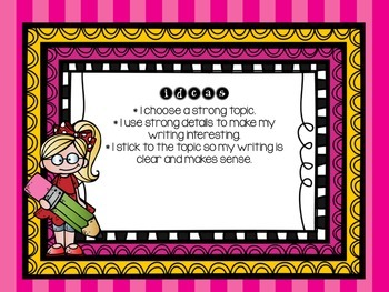 Six Traits of Writing FULL BUNDLE - posters and all third grade assessments