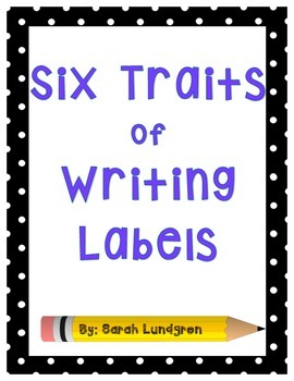Six Traits of Writing Labels & Icons