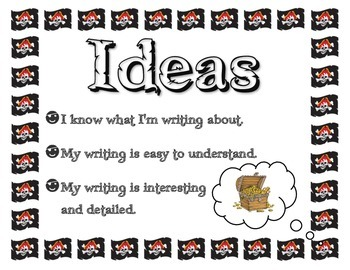 Six Traits of Writing - Pirate Theme