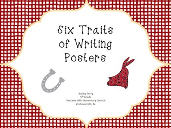 Six Traits of Writing Posters - Cowboy/Western Theme